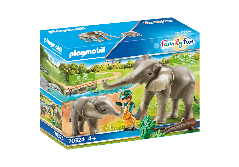 70324 Eléphants et soigneur detail image 3