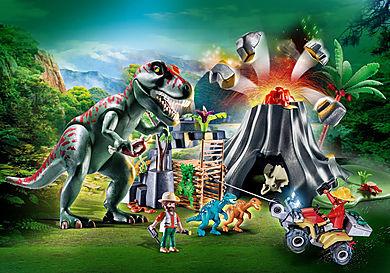 70327 Ηφαίστειο με δεινόσαυρους και εξερευνητές