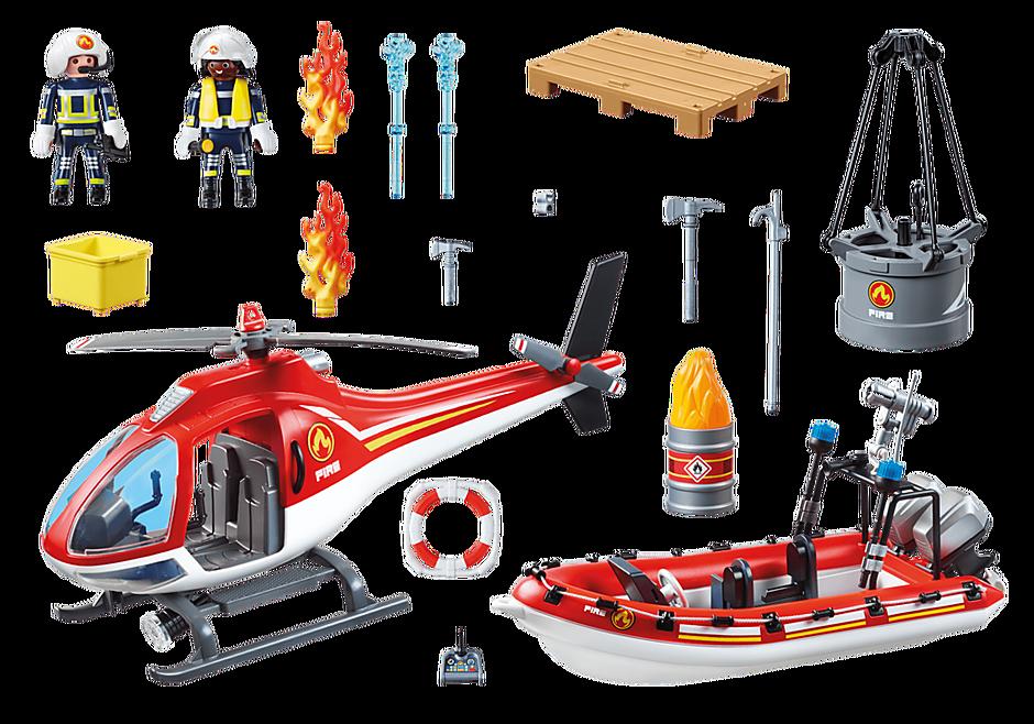 70335 Brandkår med helikopter och båt detail image 3