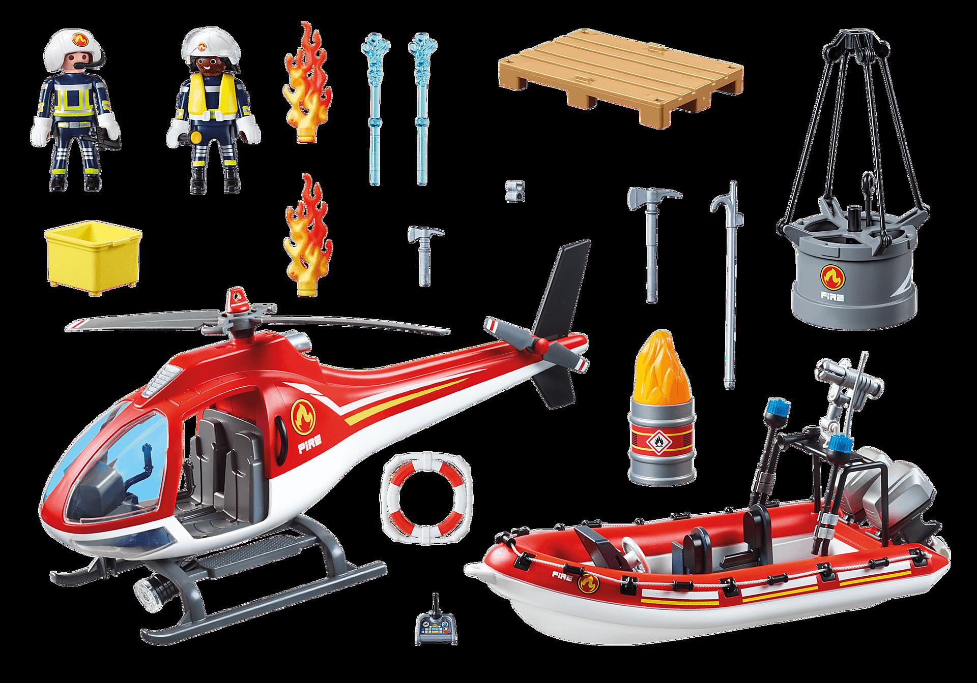 70335 Brigade de pompiers avec bateau et hélicoptère  zoom image3