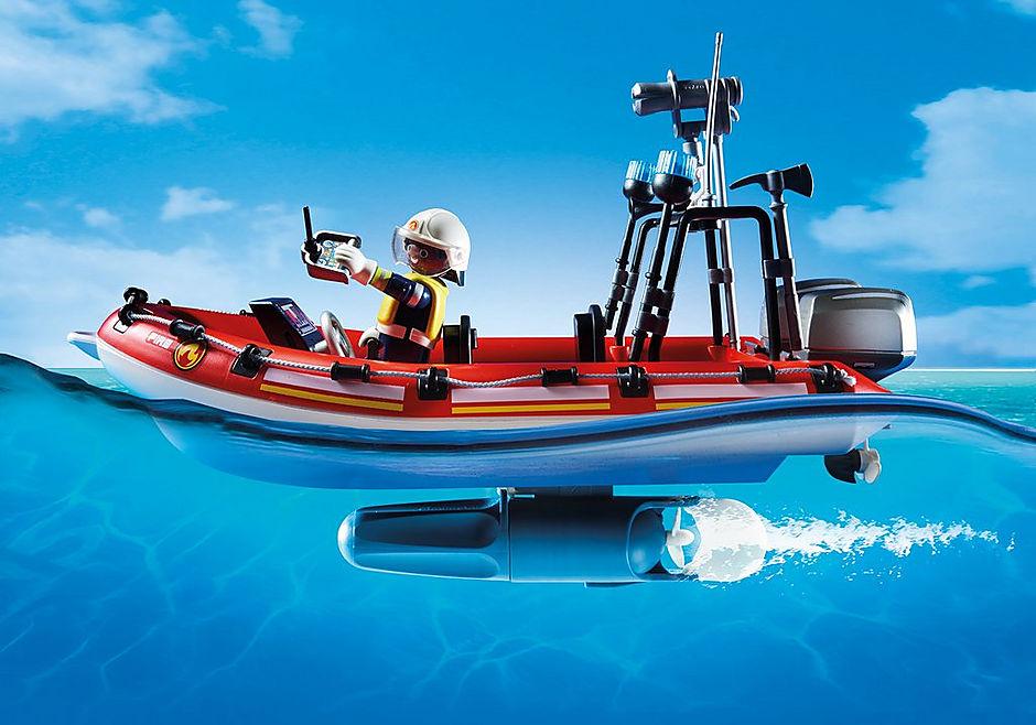 70335 Brigade de pompiers avec bateau et hélicoptère  detail image 4