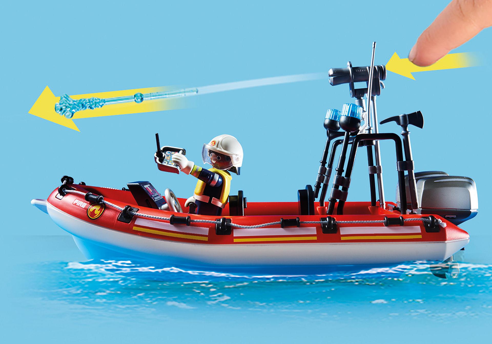 70335 Brigade de pompiers avec bateau et hélicoptère  zoom image7