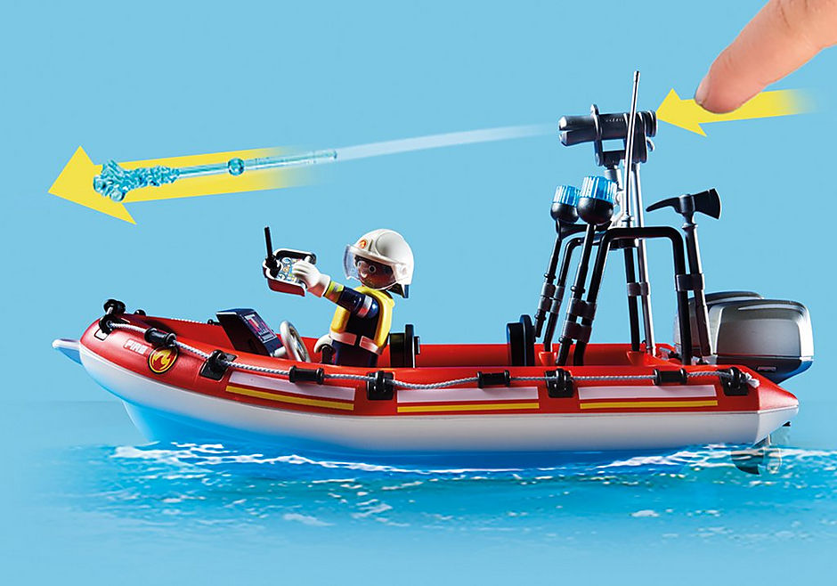 70335 Fire rescue helicopter and boat detail image 7