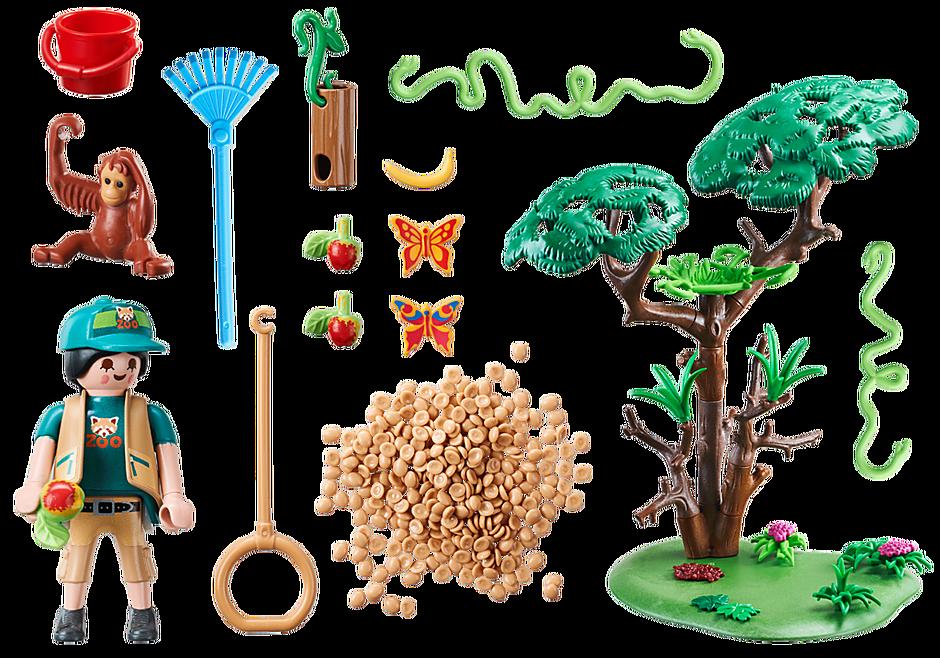 70345 Orangutanger i träd detail image 3