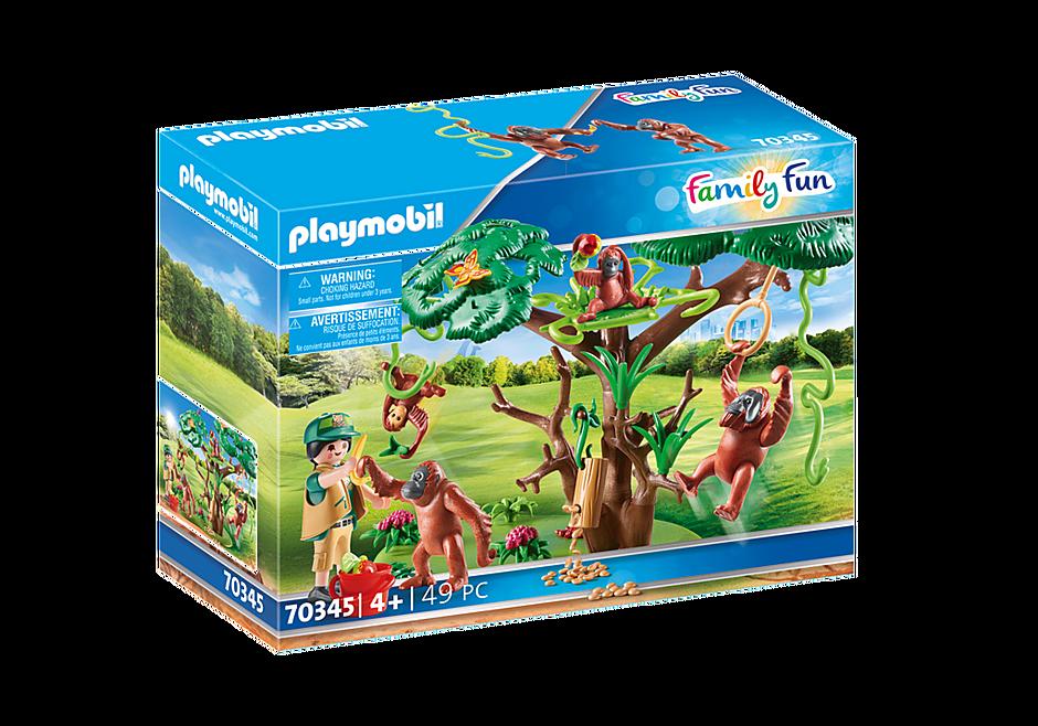 70345 Orangutanger i träd detail image 2