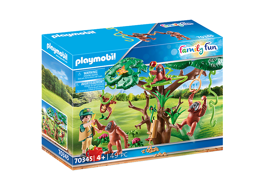 70345 Orangutans with Tree detail image 2