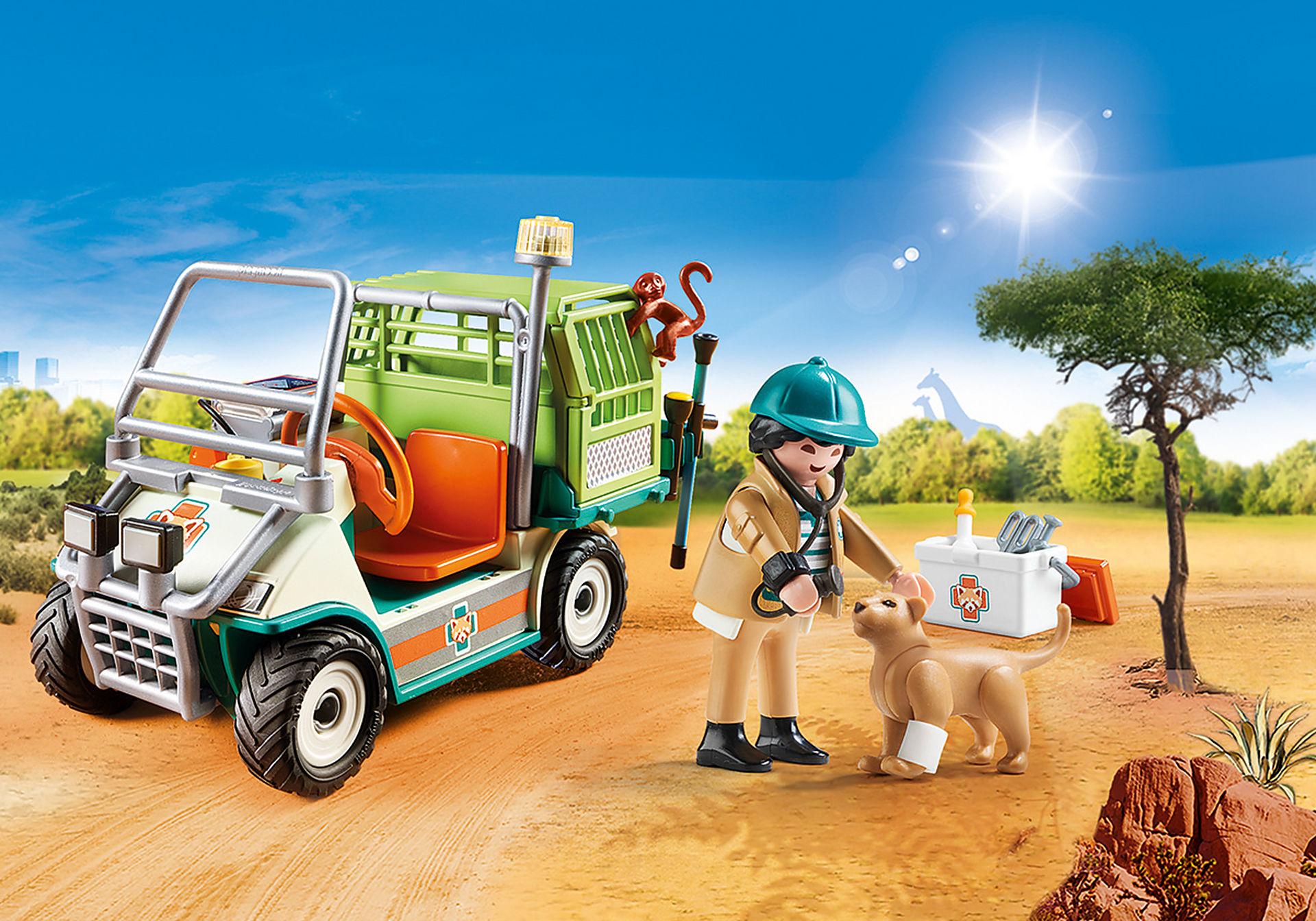 70346 Zoo-Tierarzt mit Fahrzeug zoom image1