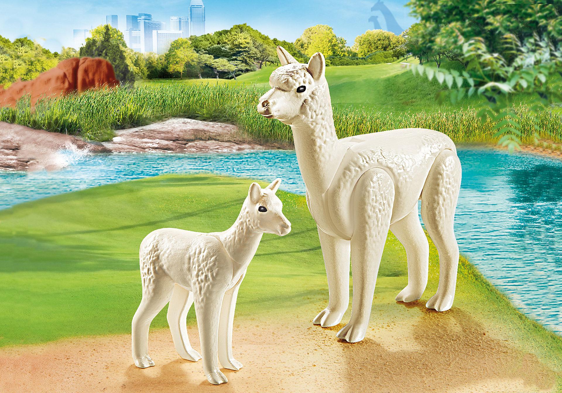 70350 Alpaca con cucciolo zoom image1