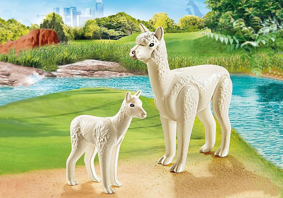 70350 Alpaca met baby detail image 1