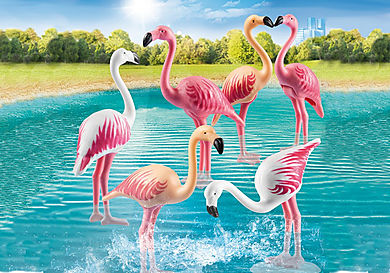70351 Zwerm flamingo's
