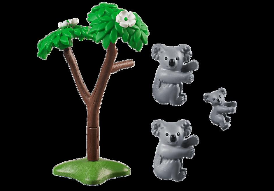 70352 Två koalor med unge detail image 3