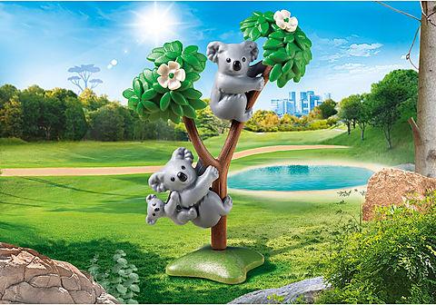 70352 2 Koalas mit Baby