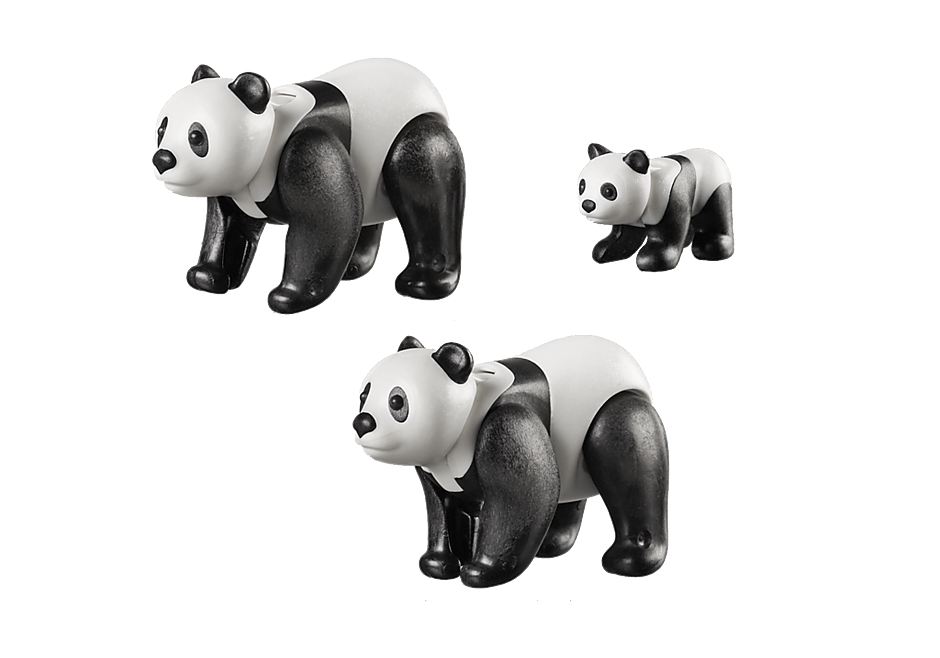 70353 2 Panda's met baby detail image 3