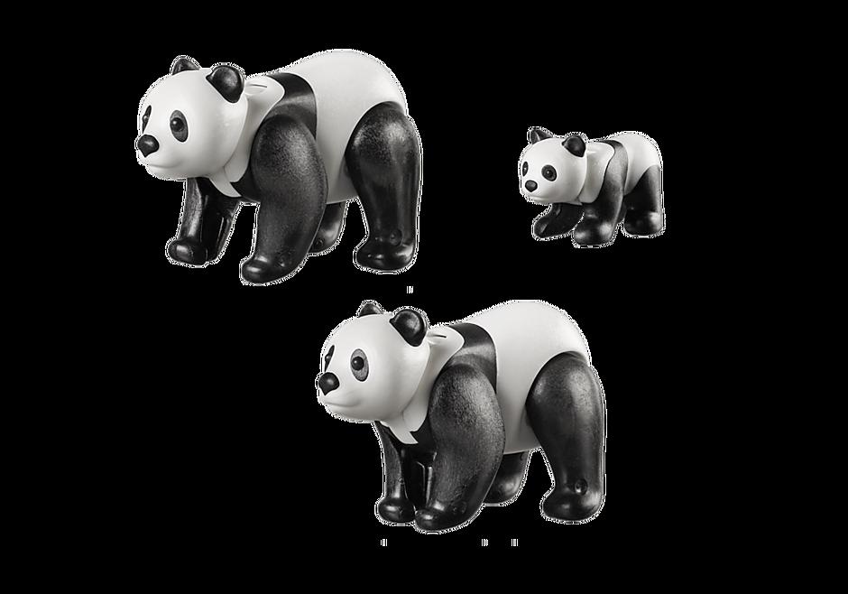 70353 Couple de pandas avec bébé detail image 3