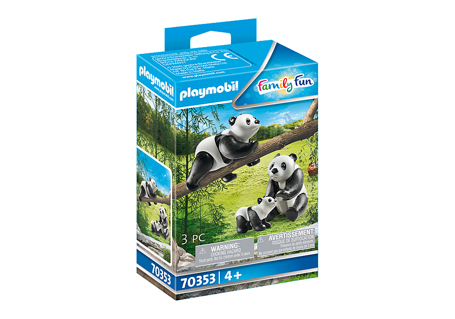 70353 2 Panda's met baby detail image 2