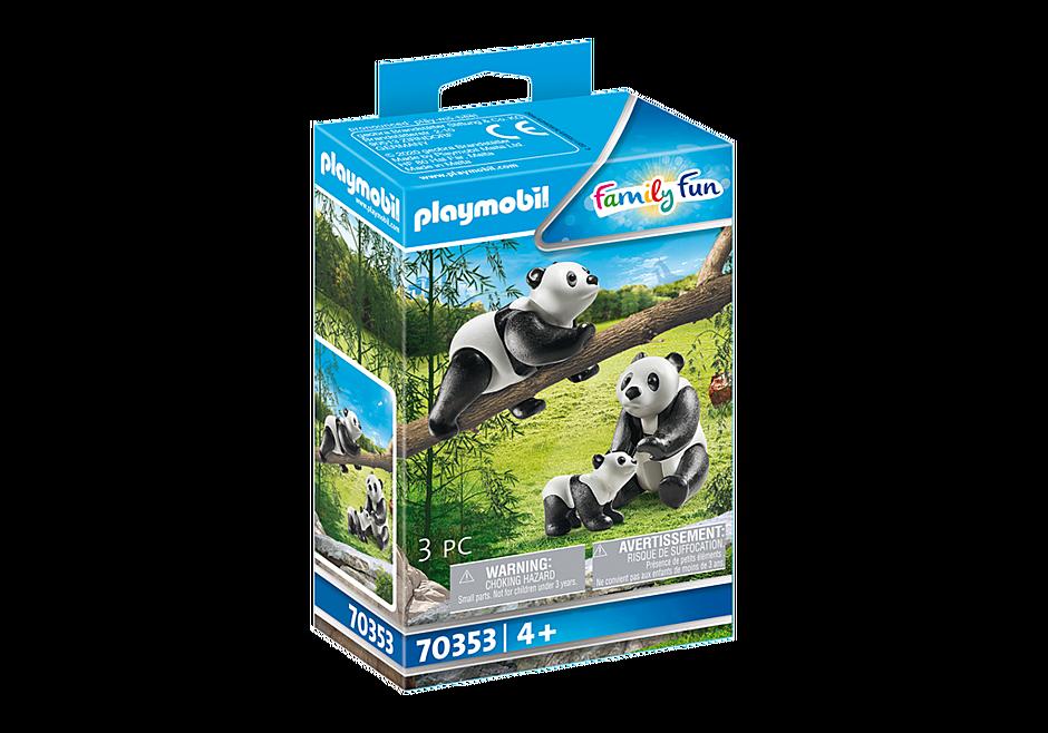 70353 Couple de pandas avec bébé detail image 2
