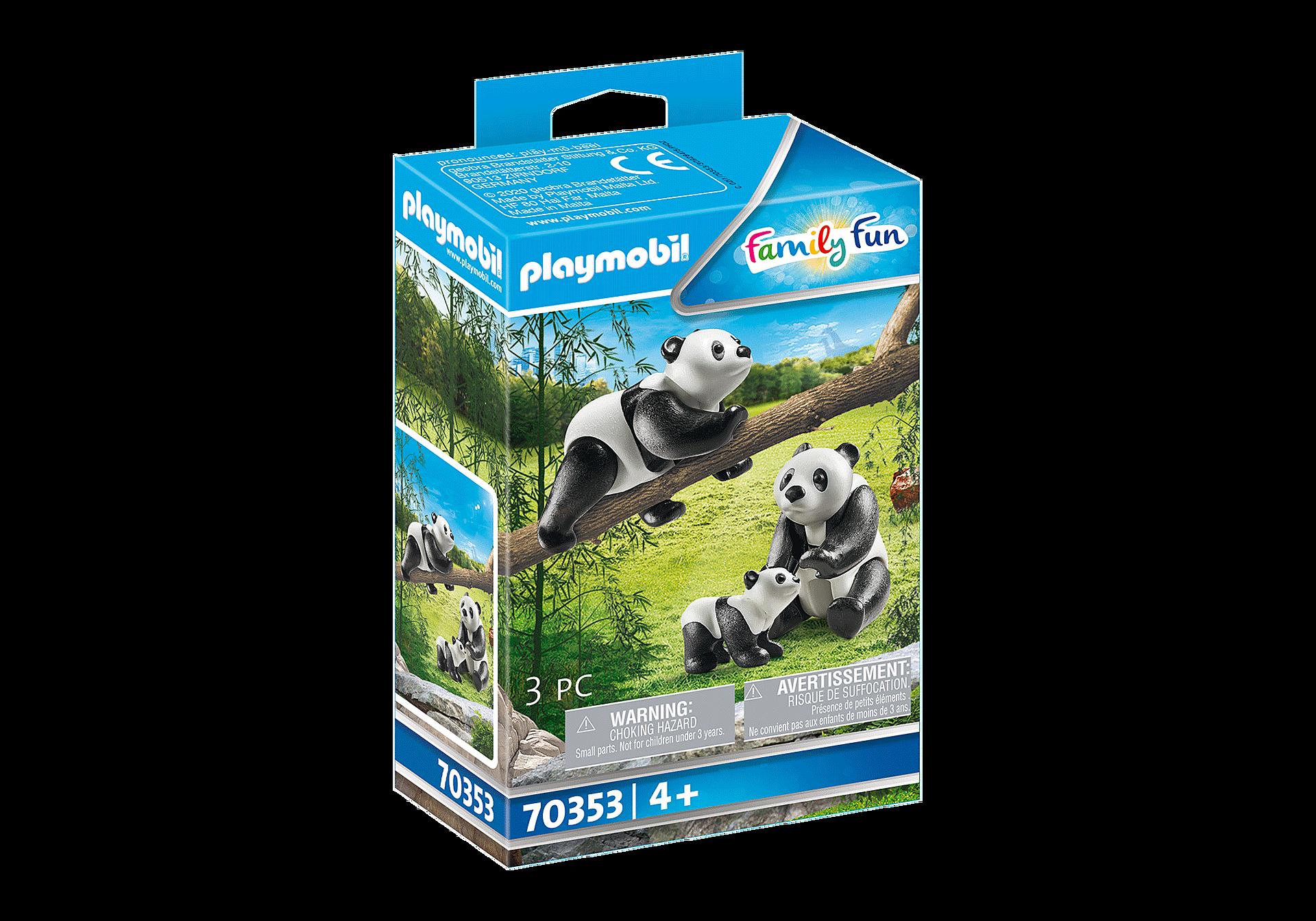 70353 Couple de pandas avec bébé zoom image2