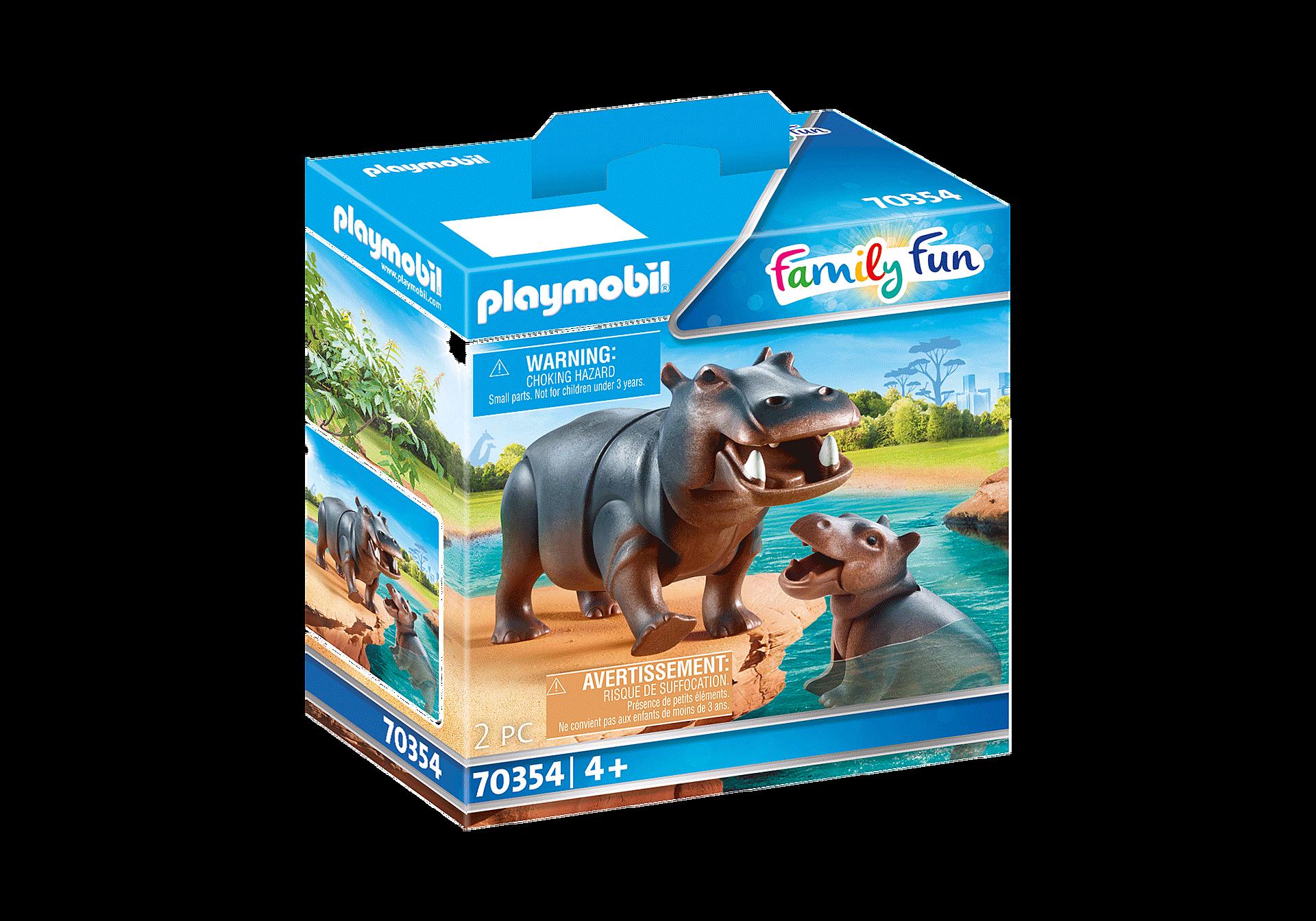 70354 Hippopotame et son petit zoom image2