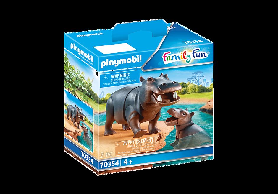 70354 Hippopotame et son petit detail image 2