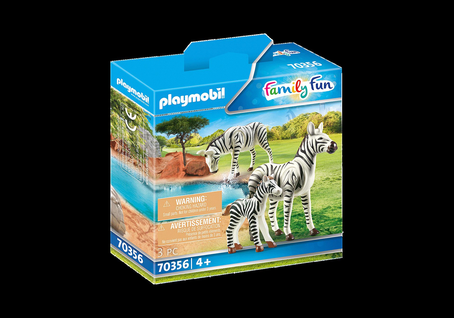 70356 2 Zebras mit Baby zoom image3