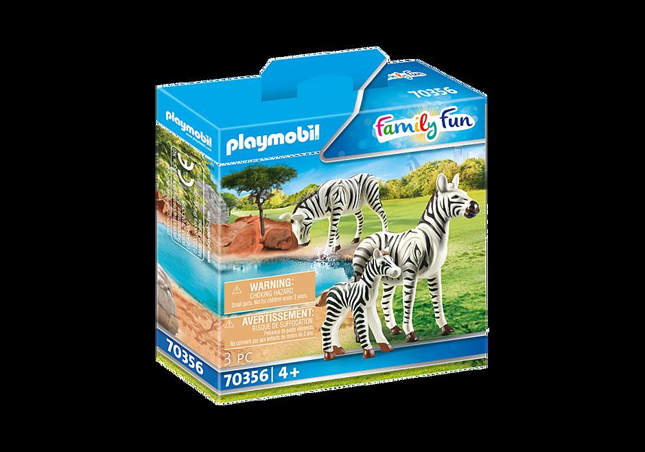 70356 Två zebror med unge detail image 2