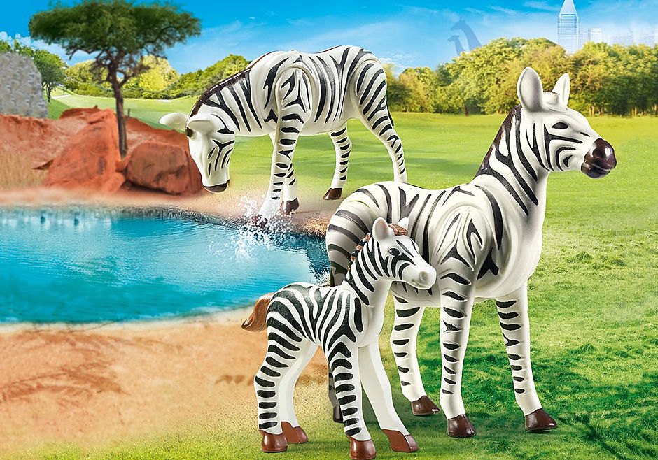 70356 Zebras with Foal detail image 1