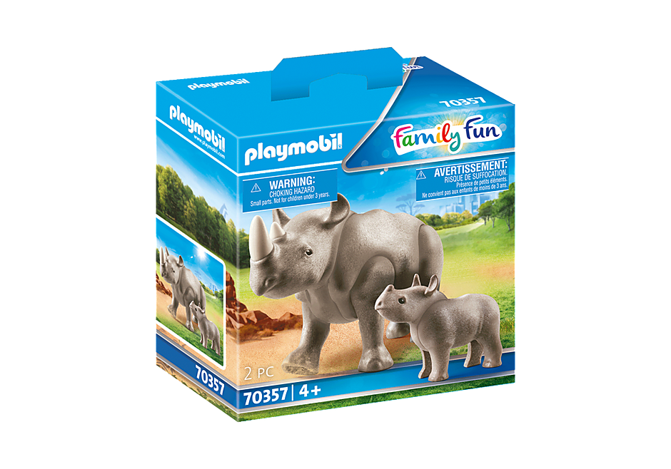 70357 Nashorn mit Baby detail image 3
