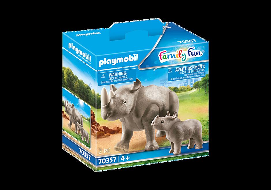 70357 Rinoceronte con cucciolo detail image 2