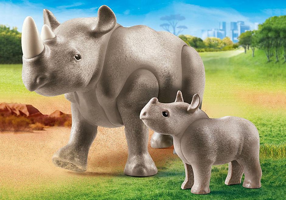 70357 Rhinocéros et son petit detail image 1