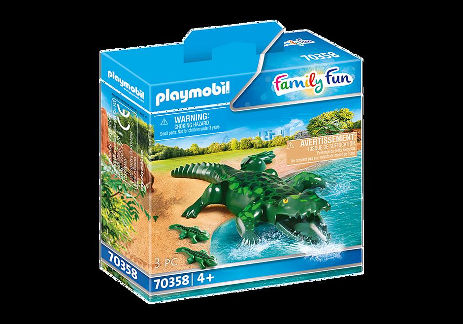 70358 Alligator met baby detail image 2