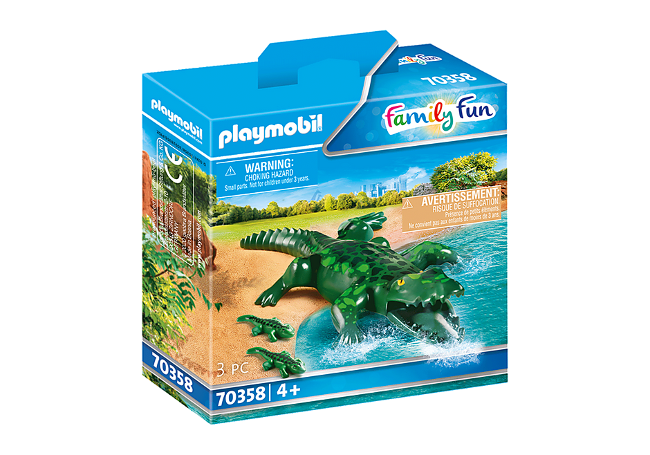 70358 Crocodilo com bebés detail image 2