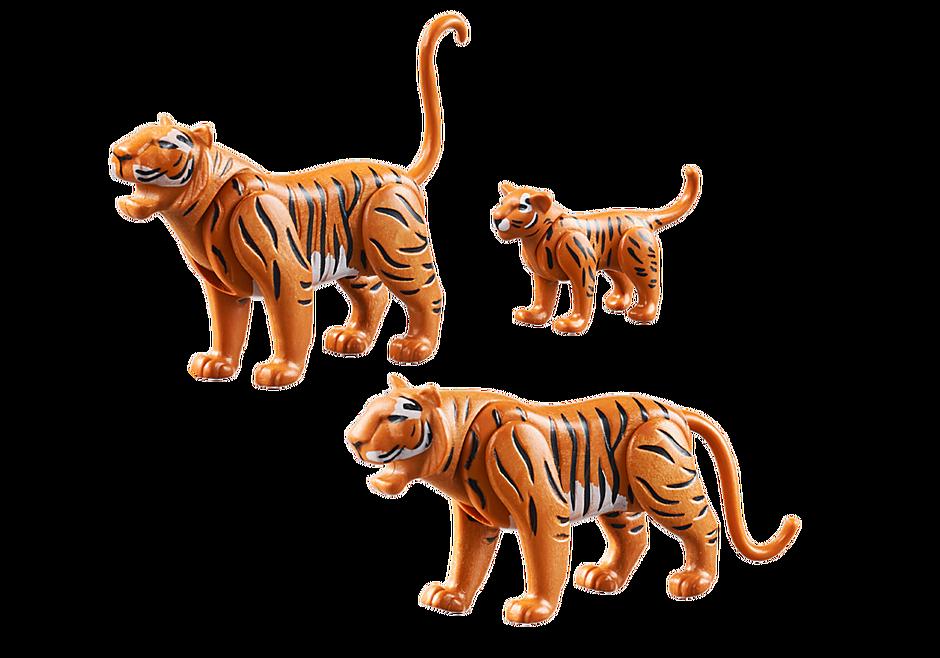 70359 Två tigrar med unge detail image 3
