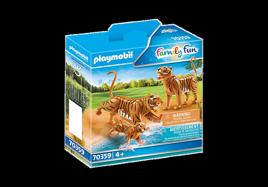 70359 Couple de tigres avec bébé  detail image 2