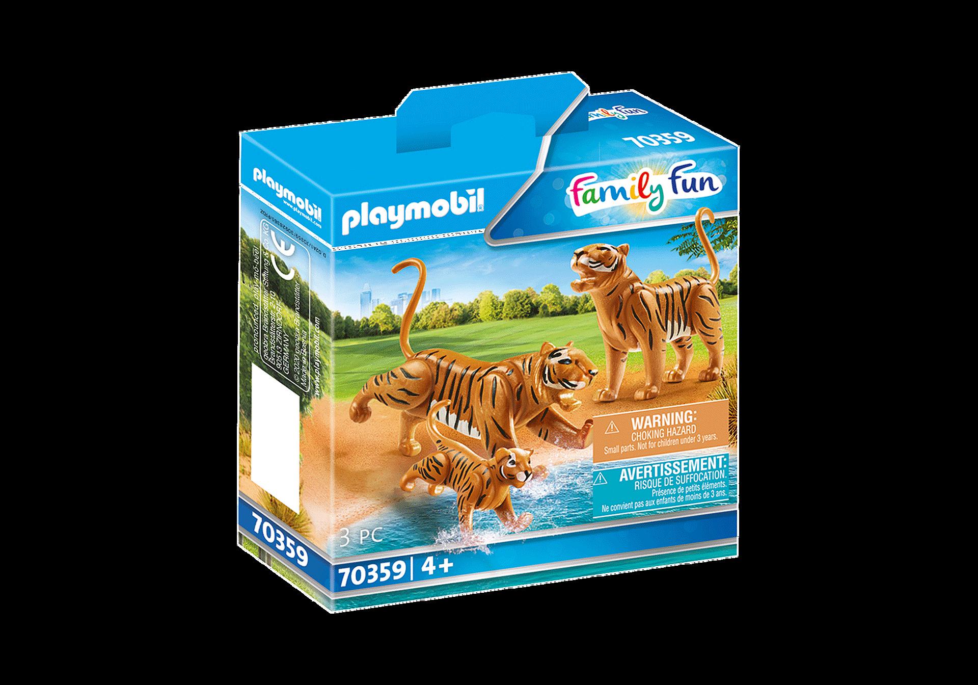 70359 Couple de tigres avec bébé  zoom image2