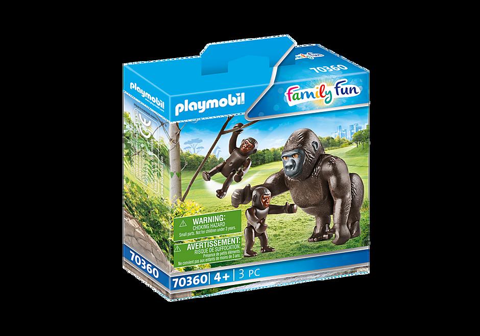 70360 Gorila com bebés detail image 2