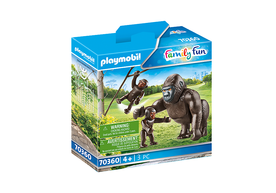 70360 Gorilla met babies detail image 2