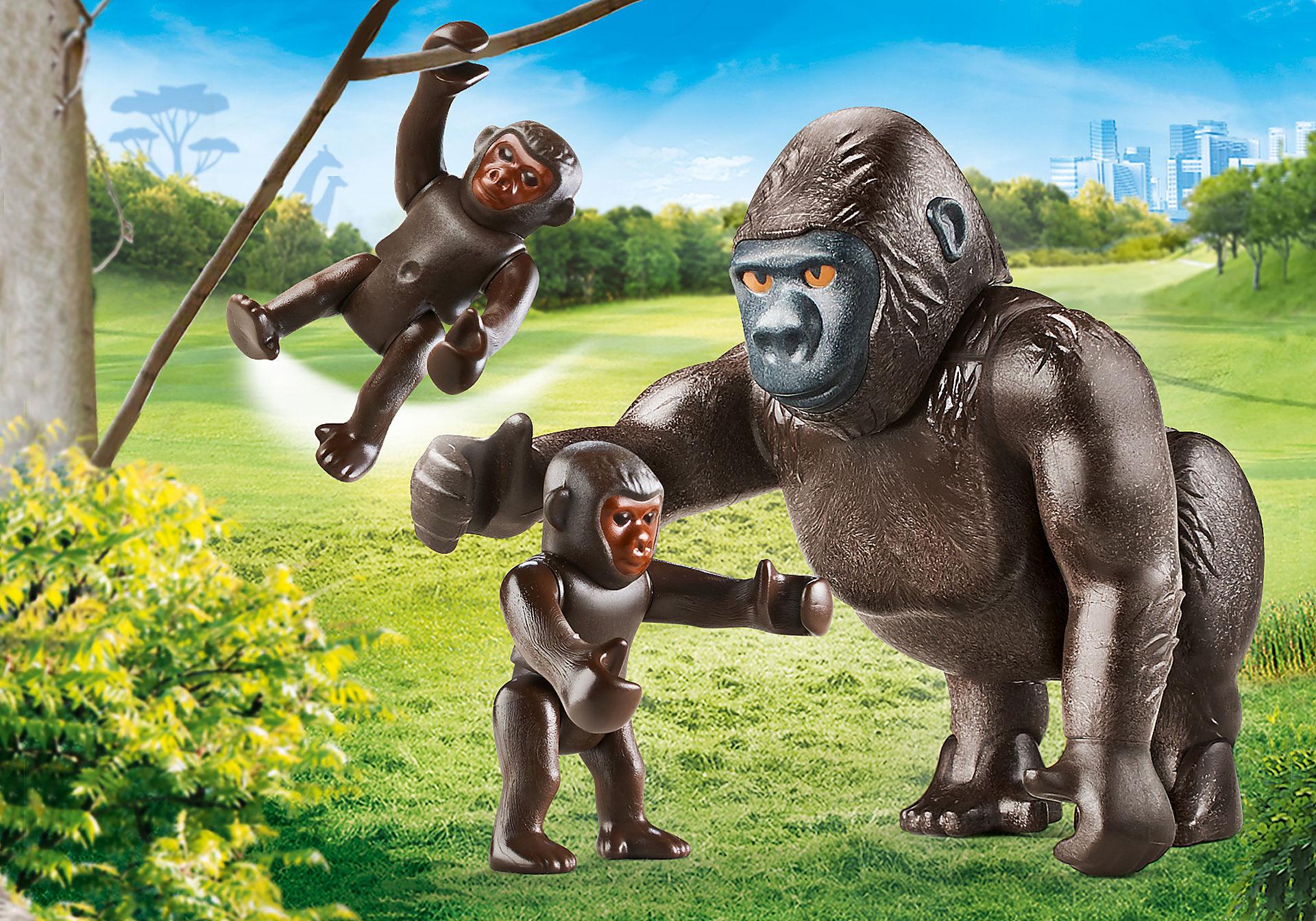 70360 Gorilla met babies zoom image1