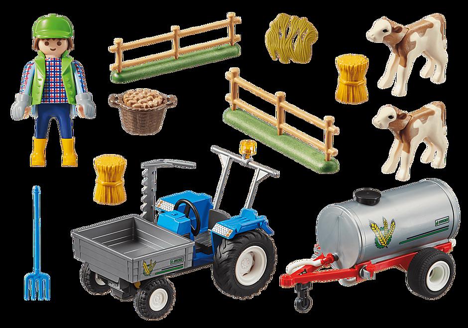 70367 Agriculteur avec faucheuse et citerne detail image 3
