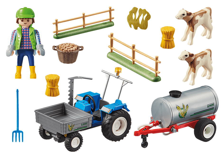 70367 Landbouwer met maaimachine detail image 3