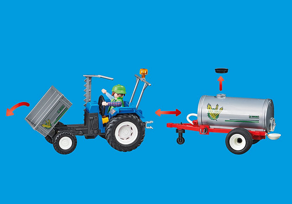 70367 Agriculteur avec faucheuse et citerne detail image 4