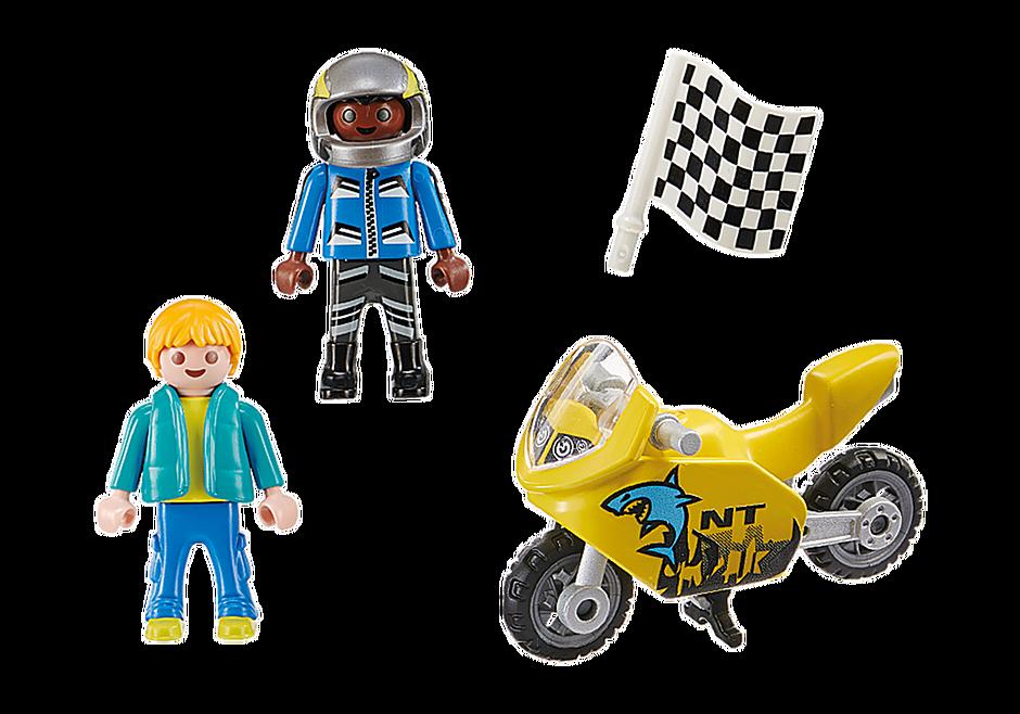 70380 Pojkar med racercykel detail image 3