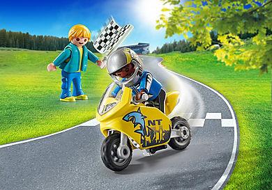 70380 Gutter med racersykkel