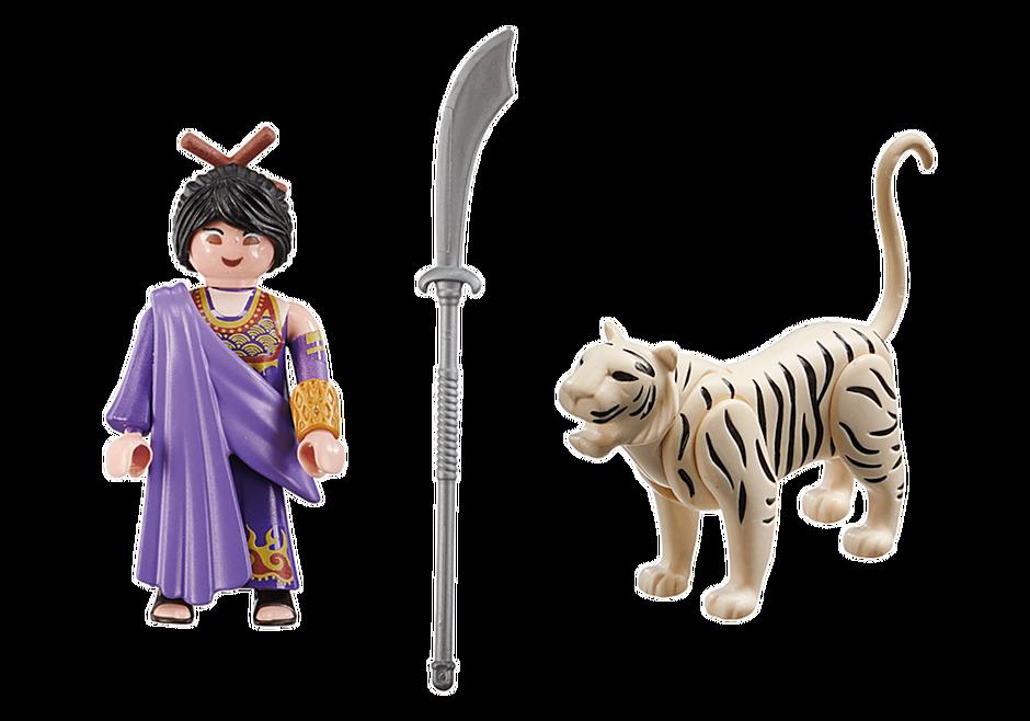 70382 Asiatisk kvindelige kæmper med tiger detail image 3