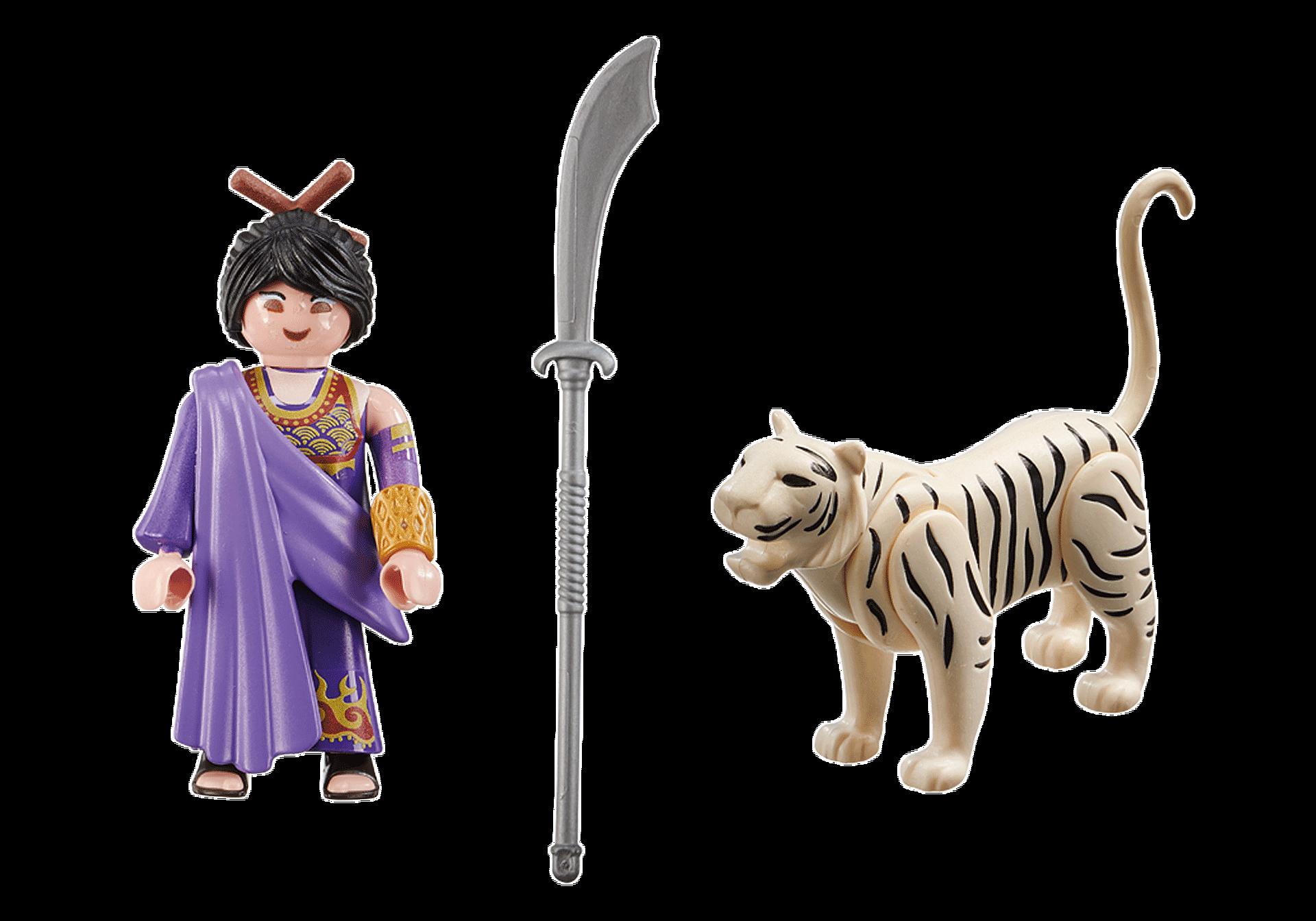 70382 Aziatische vechter met tijger zoom image3