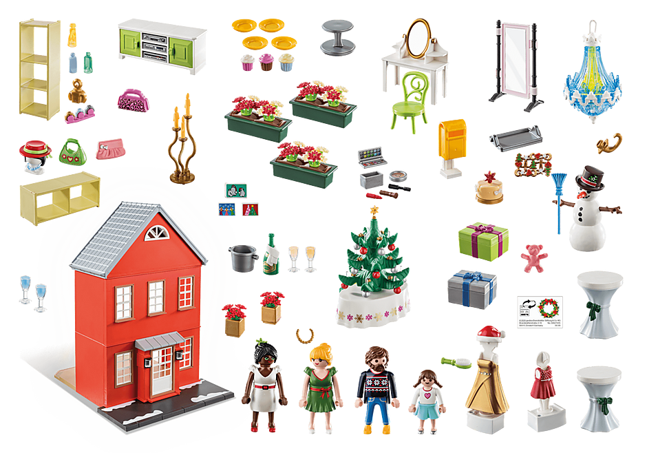 70383 Adventskalender XL Kerst in huis detail image 2