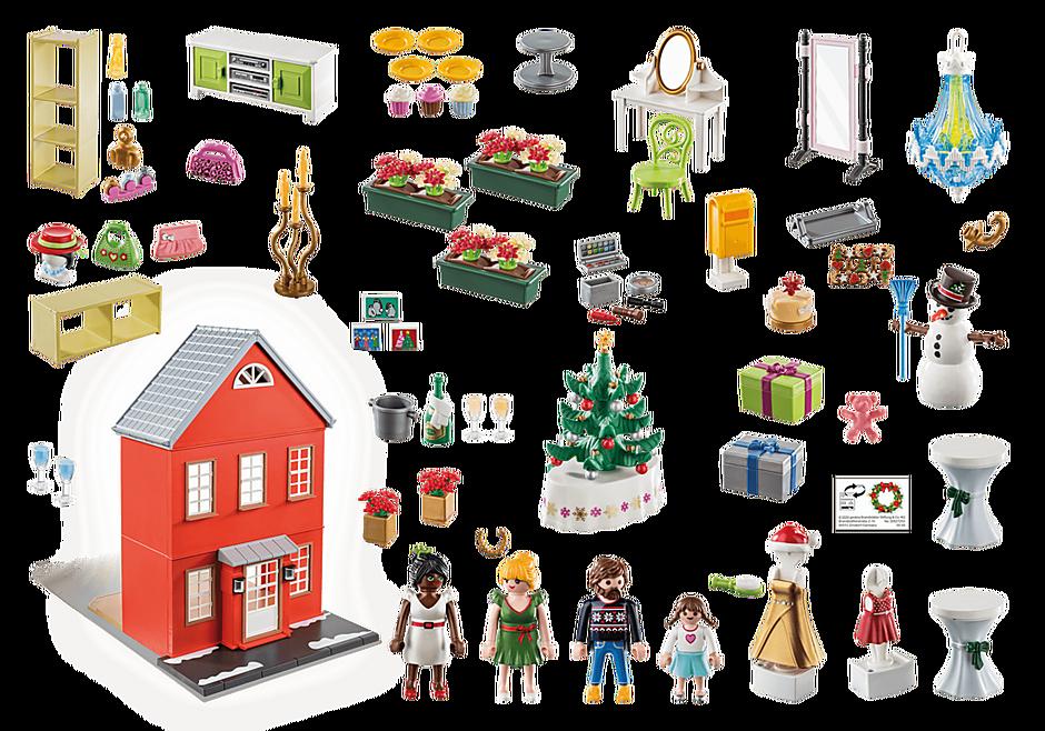 70383 Calendrier de l'Avent Père Noël dans la ville detail image 2