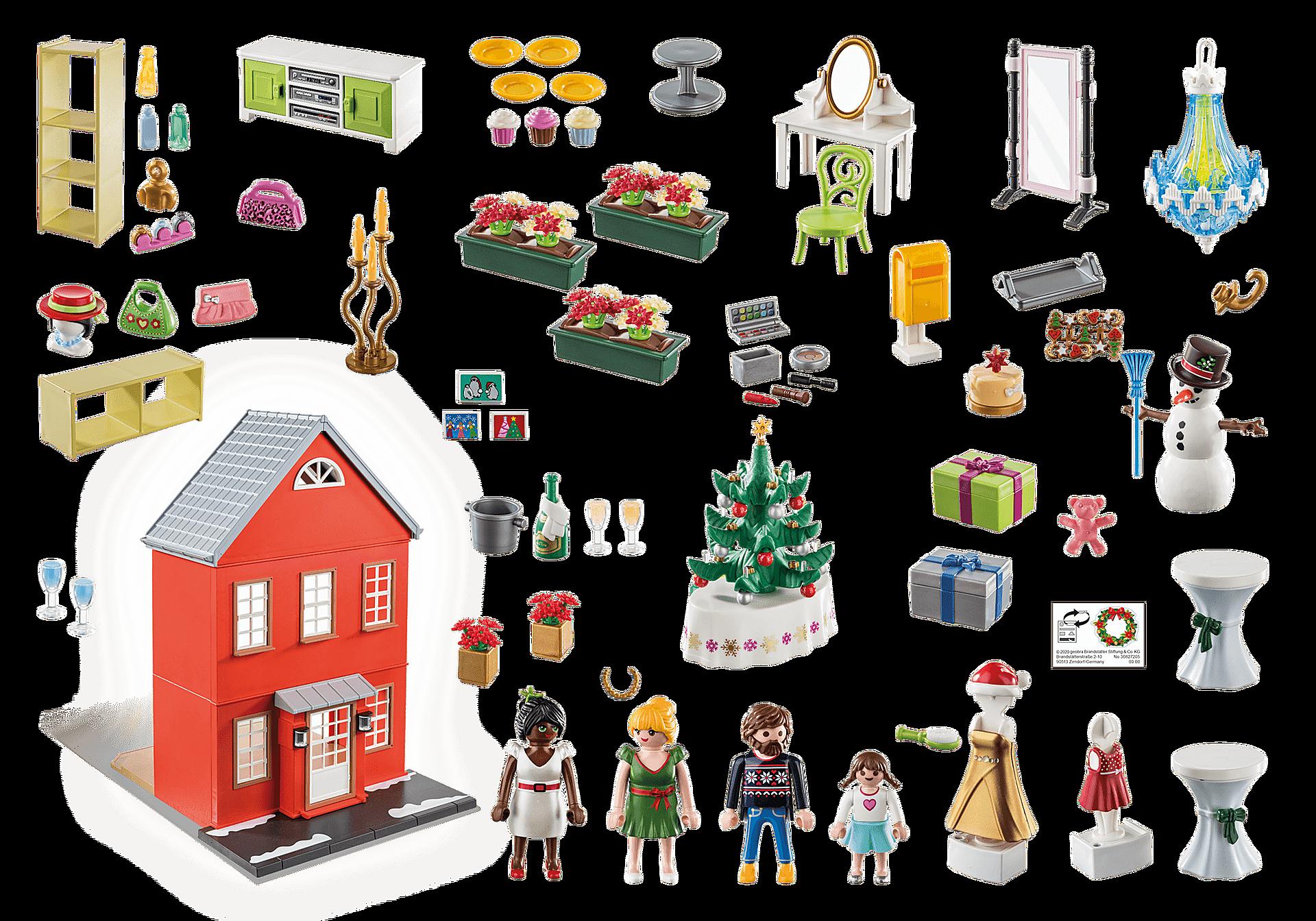 70383 Calendrier de l'Avent Père Noël dans la ville zoom image2