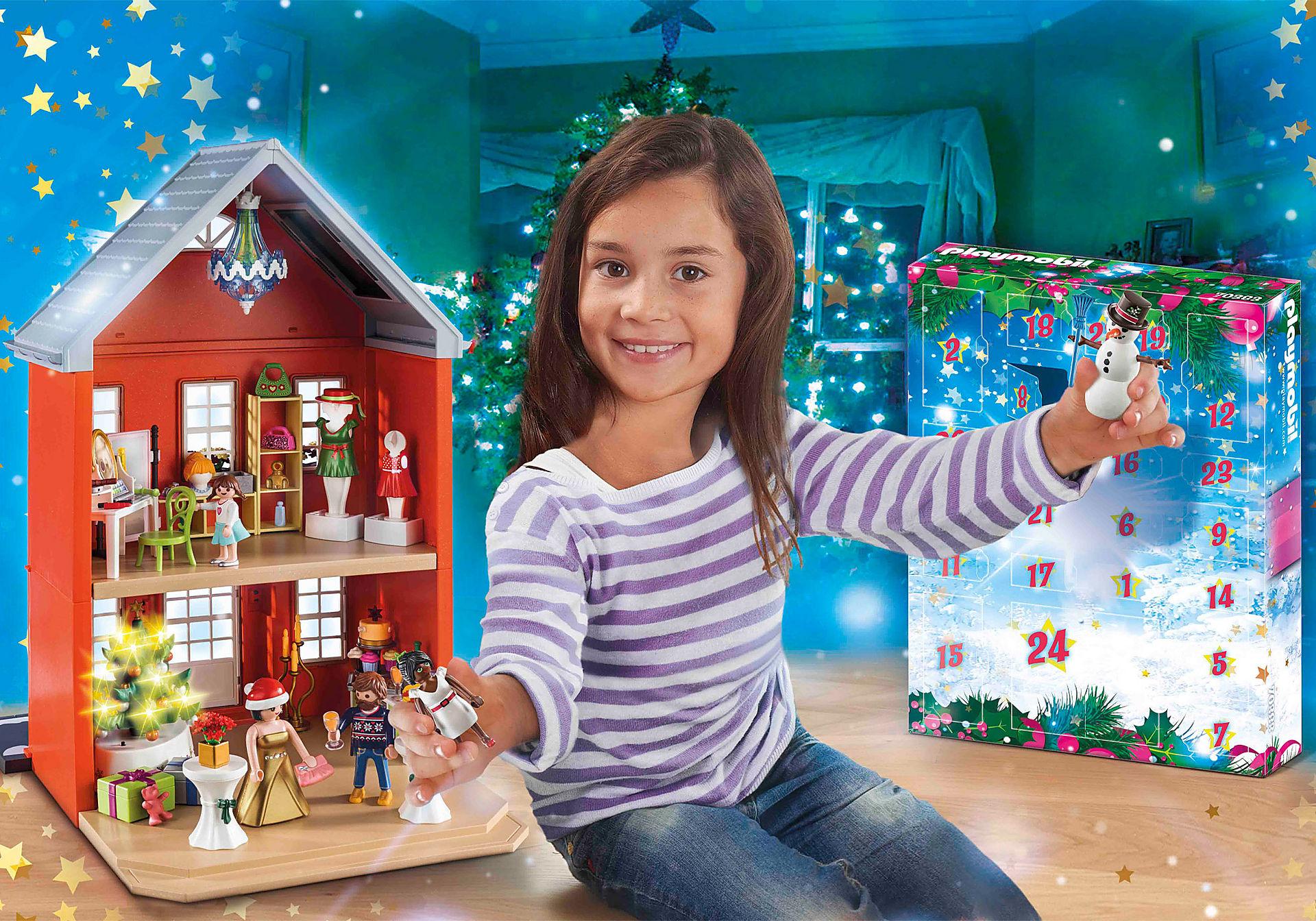 70383 Calendrier de l'Avent Père Noël dans la ville zoom image1
