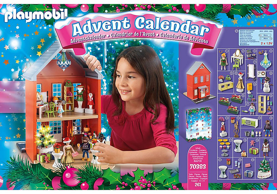 70383 Adventskalender XL Kerst in huis detail image 3