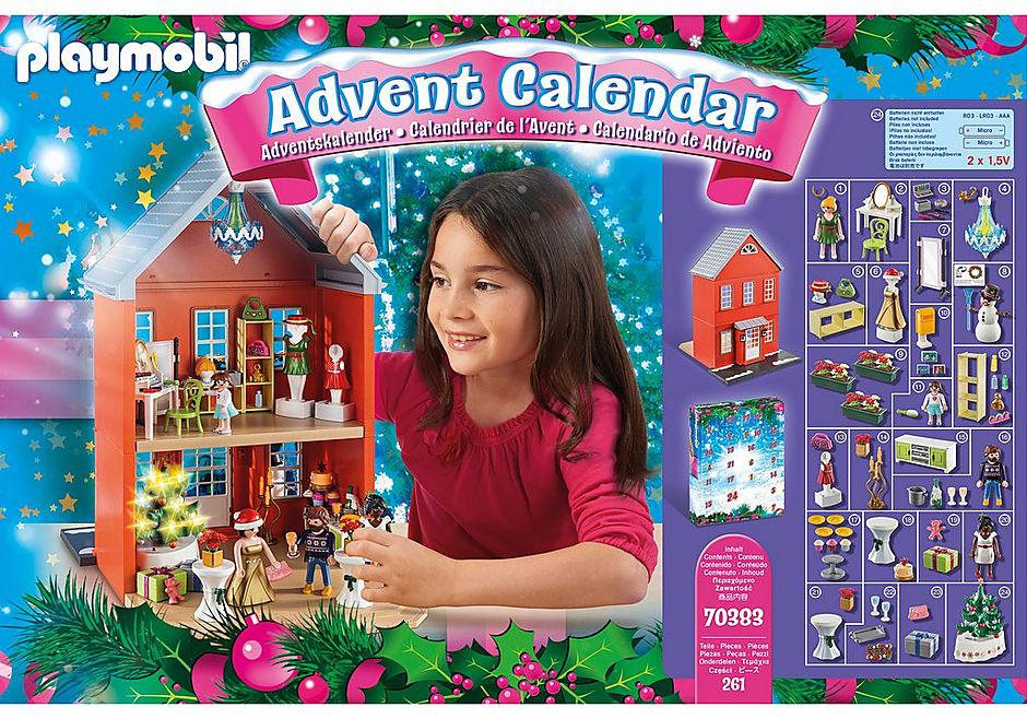 70383 Calendrier de l'Avent Père Noël dans la ville detail image 3
